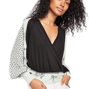 NWT Free People Auxton Thermal Wrap Top